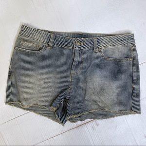LC Lauren Conrad Conducter Stripe Shorts Cutoff